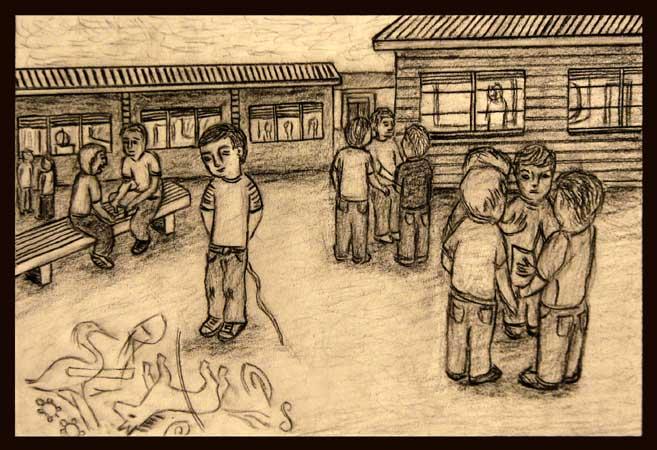 Joeron the Moeron charcoal drawing